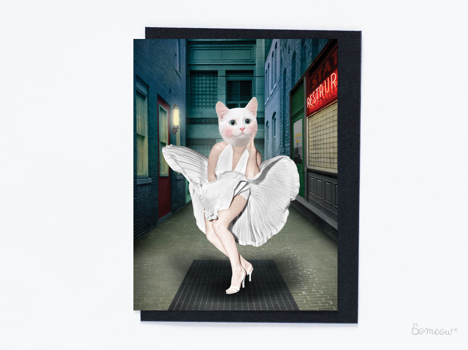 Carte de chat en hommage à Marilyn Monroe par So Meow