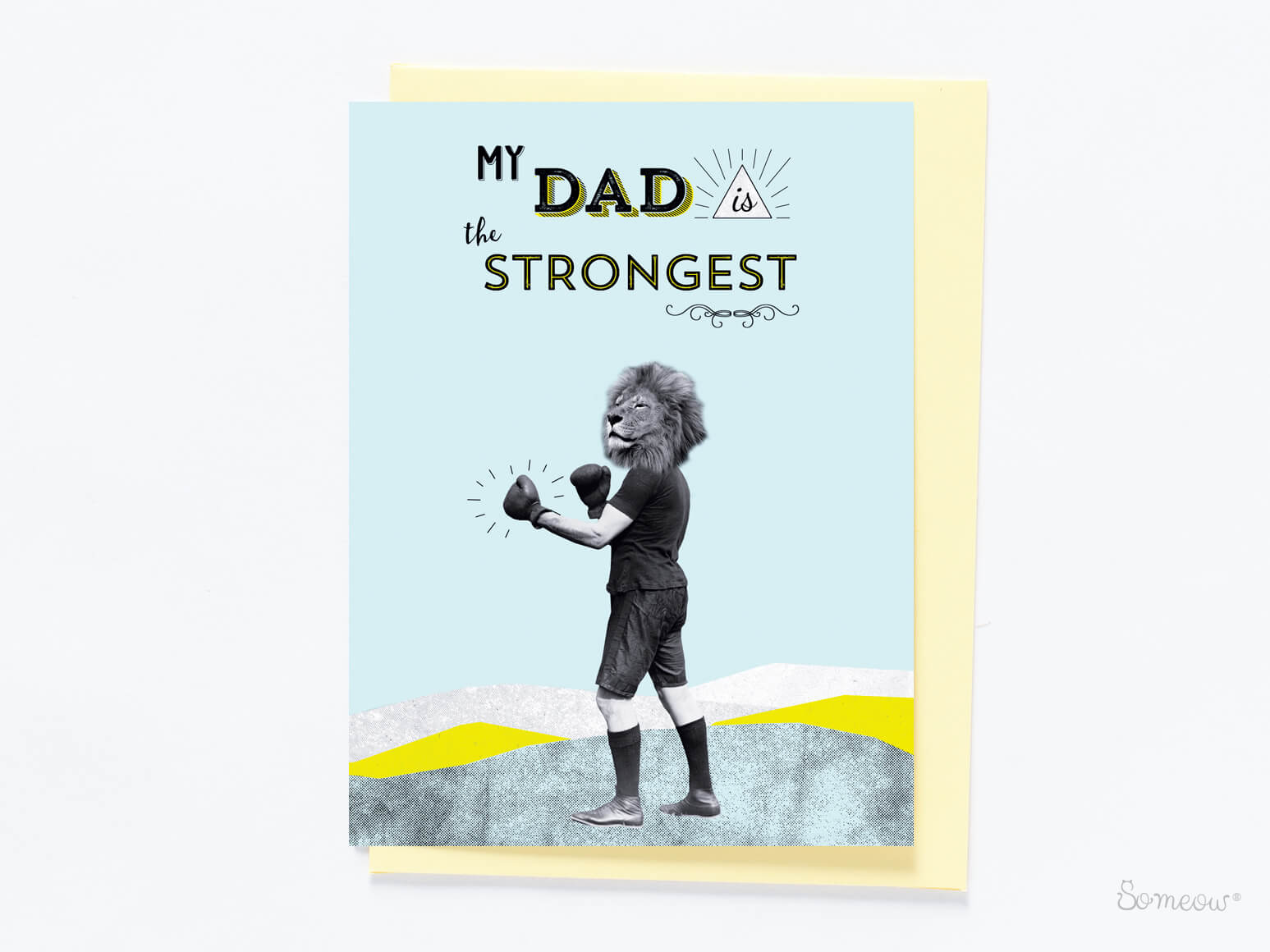 Cat card - My Dad is the Strongest by So Meow
