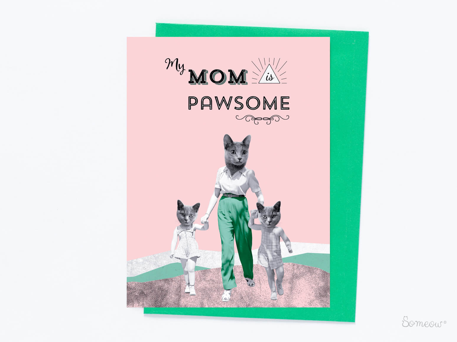 Cat card - My Mom is Pawsome by So Meow