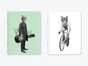 Duo de carnets Leonardo et Cat On Bike