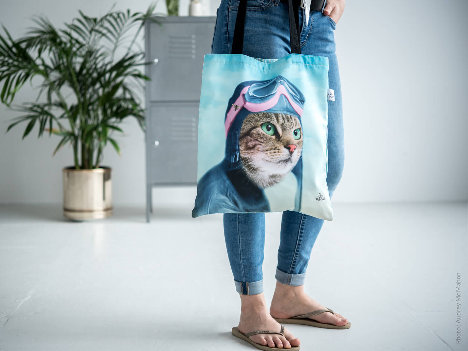 Sac réutilisable recyclé L'exploratrice de So Meow