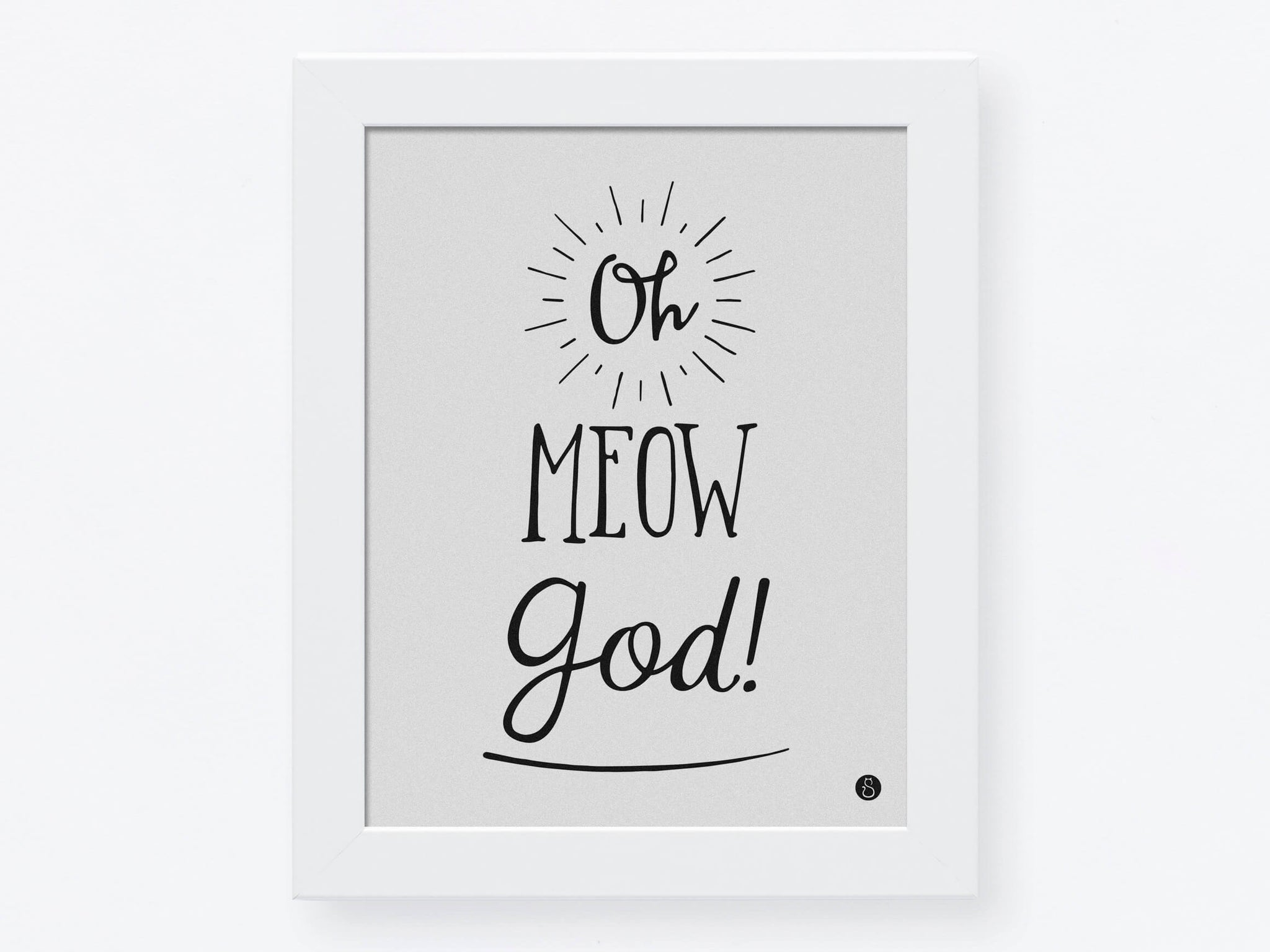Affiche «Oh Meow God!»