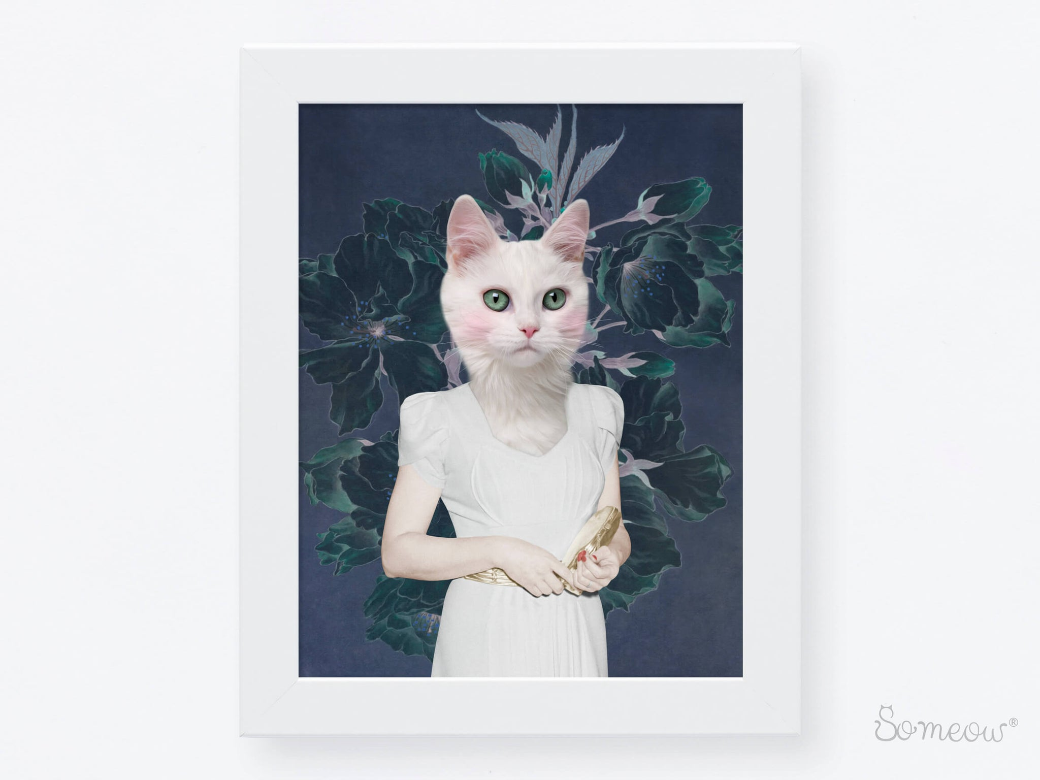 Affiche de chat Cherry Bloom par So Meow pour toutes les cat ladies