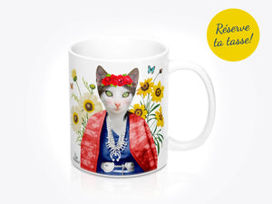 Tasse de chat Frida Cathlo par So Meow