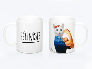 Tasse de chat «Féliniste» par So Meow