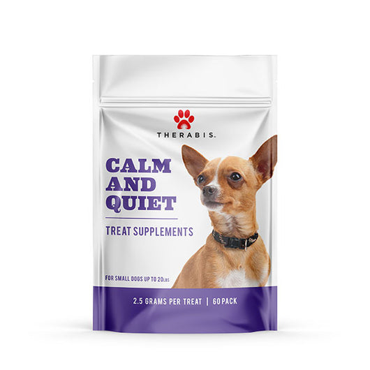 Calm and Quiet CBD treat supplements for small dogs