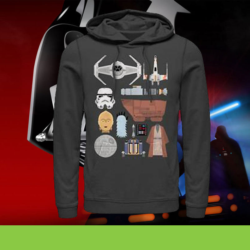 Your Chance To Win This Epic Star Wars Essential Icons Pullover Hoodie Completely FREE!