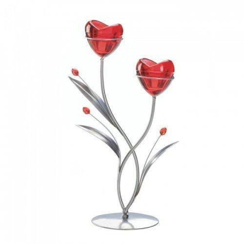 Two Hearts In Bloom Candleholder (pack of 1 EA)