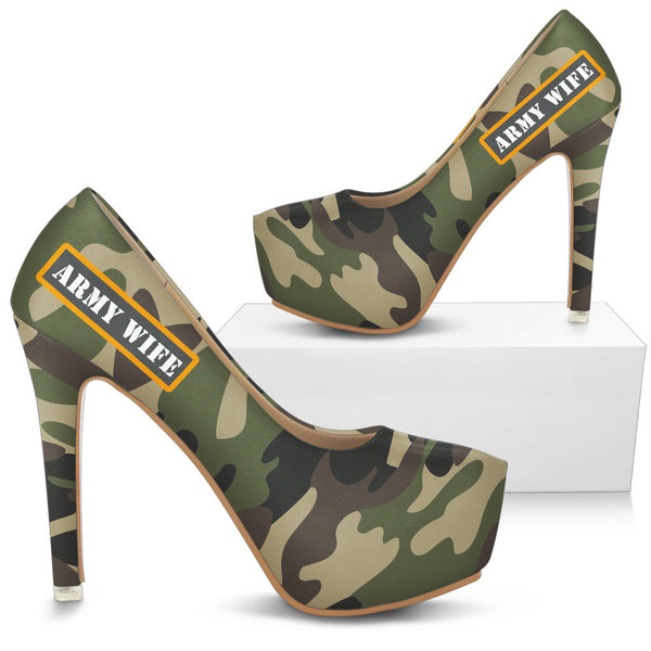 Proud Army Wife High Heels