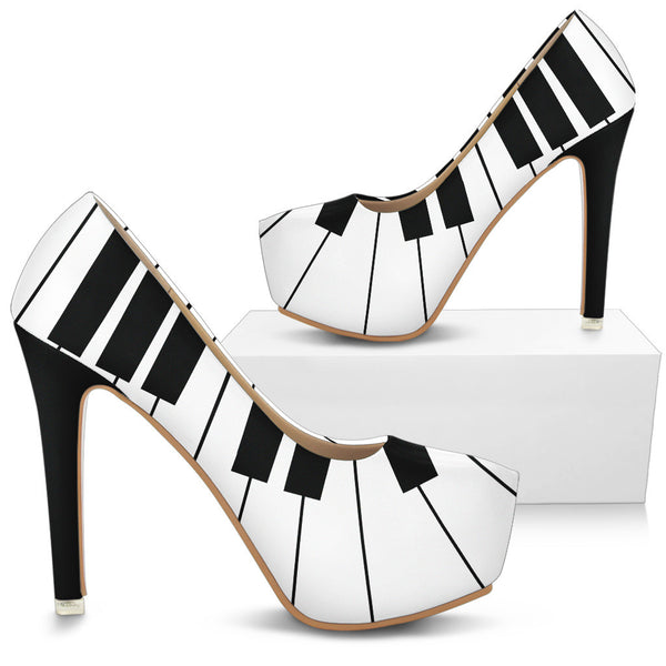 Piano Keys High Heels