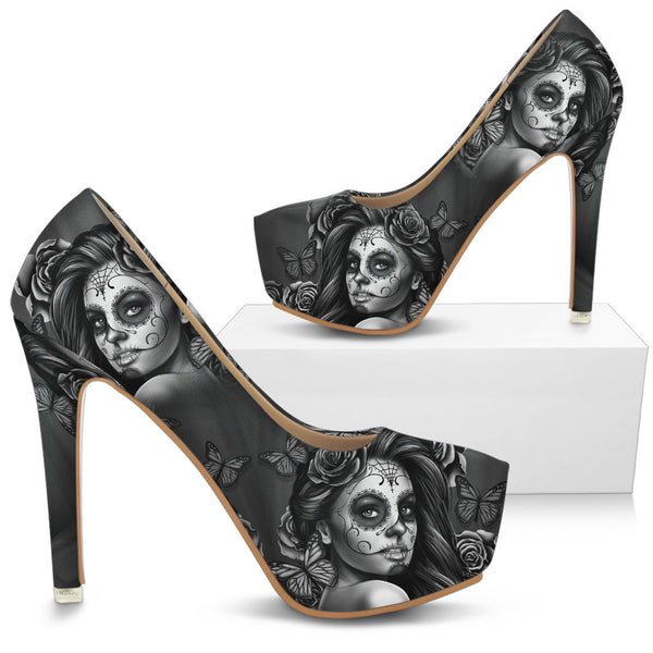 Calavera High Heels With Express Shipping