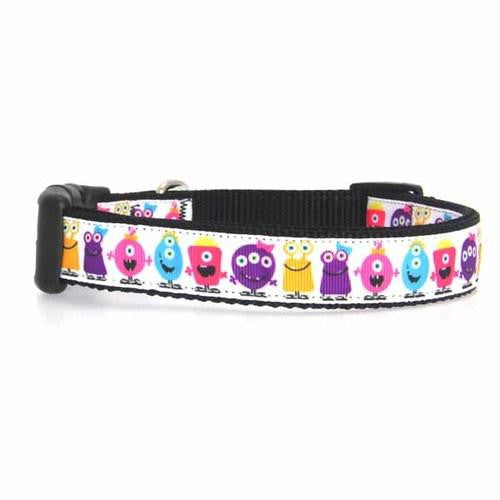 Monsters Dog Collar - White