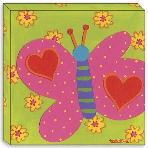 Canvas Edition: Pink Butterfly Hearts