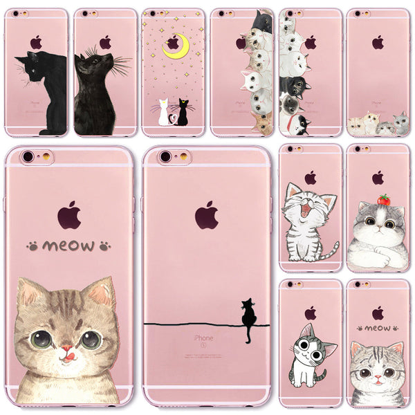 Cute Cat iPhone Case 7 7Plus 6 6s Plus 6Plus 4 4s 5 5s SE 5C