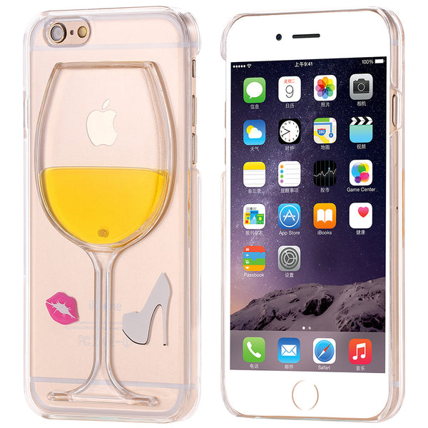I Love Wine Fashion Case With Kiss - For iPhone 6 6S Plus 5 5S SE