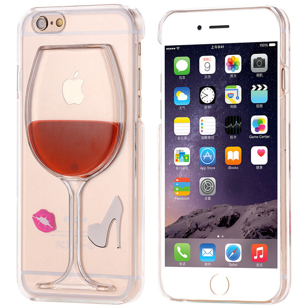 I Love Wine Fashion Case With Kiss For iPhone 6 6S Plus 5 5S SE