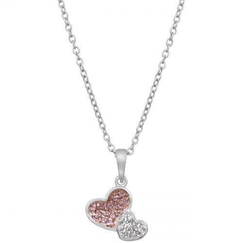 Two Hearts Pave Pendant (pack of 1 ea)