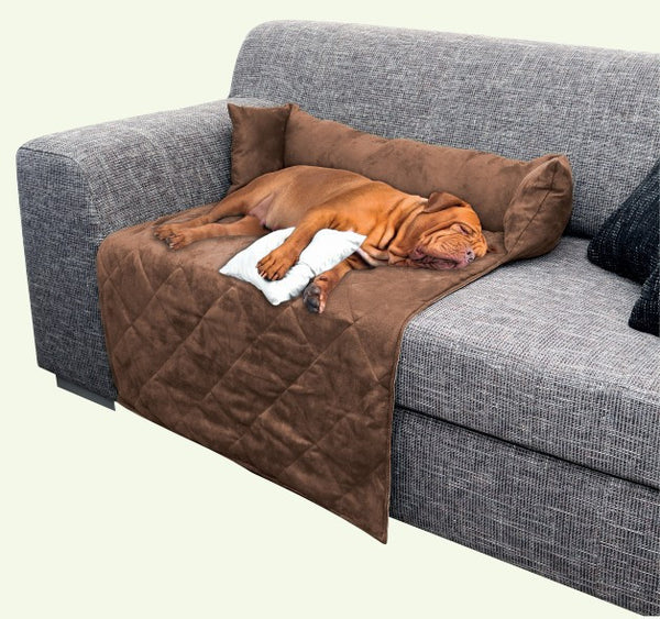 Dog Sofa Protector Pet Blanket With Bolster