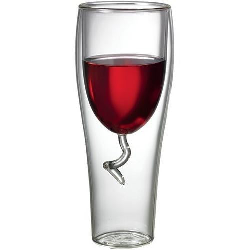 STARFRIT 080054-006-AMAZ 8-Ounce Double-Wall Wine Glass