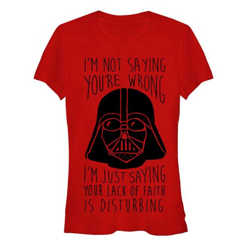 Star Wars Disturbing Not Wrong Juniors T-Shirt
