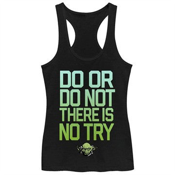 Star Wars No Try Gradient Tank Top Juniors T-Shirt