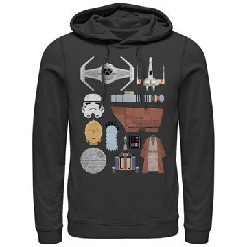Star Wars Essential Icons Pullover Hoodie