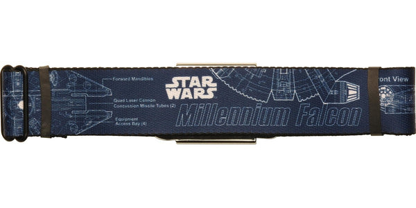 Star Wars Falcon Blueprints Navy Seatbelt Belt