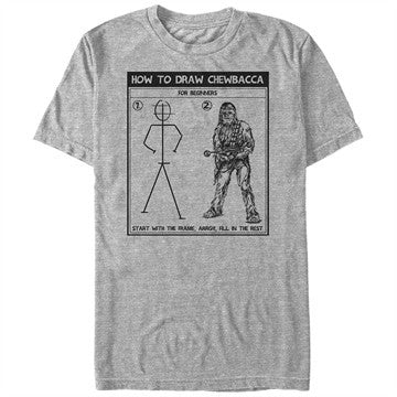 Star Wars Draw Chewbacca T-Shirt