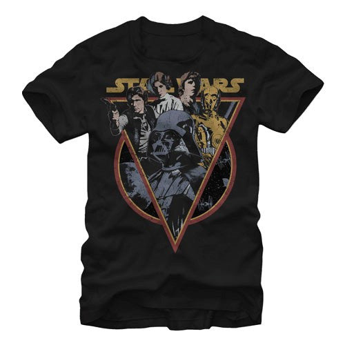 Star Wars Retro Group Shot T-Shirt