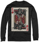 Star Wars Vader Face Card Long Sleeve T-Shirt