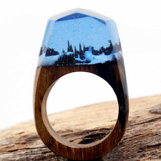 Enchanted Snowy Forest Ring - Charmora.com