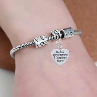 """The Love Between a Mother & a Daughter is Forever"" Bracelet - Charmora.com"
