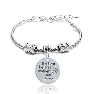"""The Love Between a Mother & a Son is Forever"" Bracelet - Charmora.com"