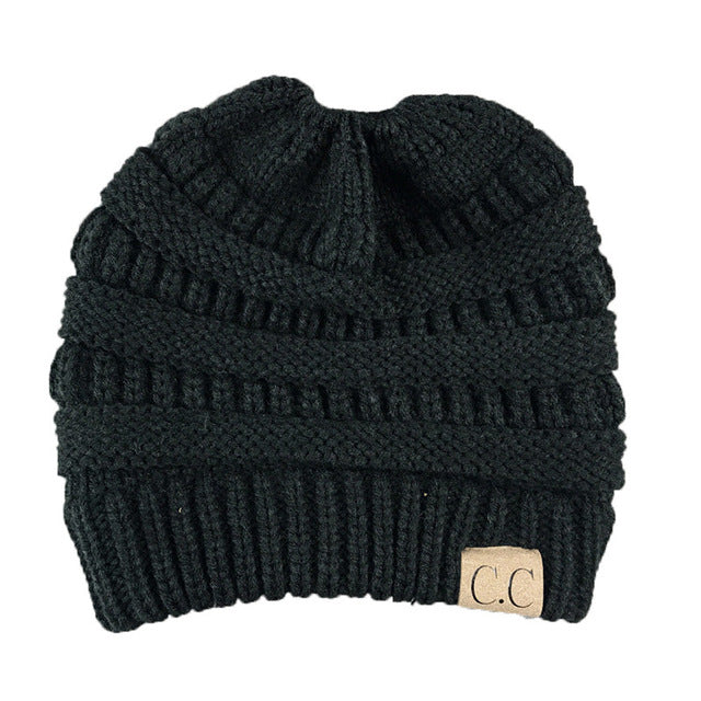 Ponytail Beanie - 10 Colors - Charmora.com