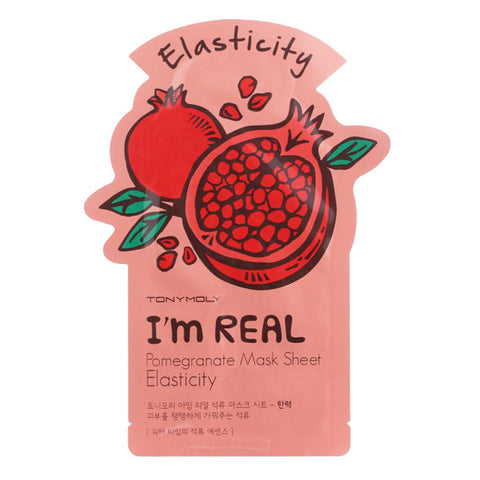 I'm Real - Pomegranate - Elasticity, Tony Moly - Mooni Mask