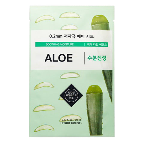 0.2 Air Therapy - Aloe - Soothing Moisture, Etude House - Mooni Mask