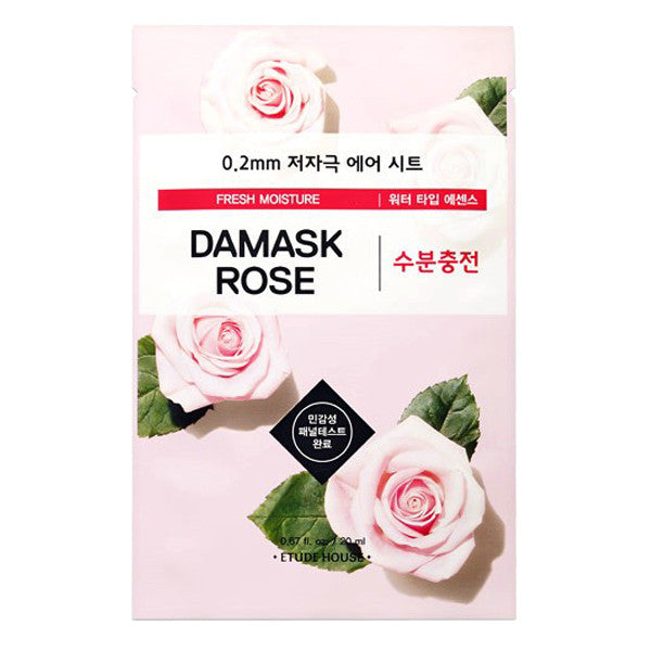 0.2 Air Therapy - Damask Rose - Fresh Moisture, Etude House - Mooni Mask