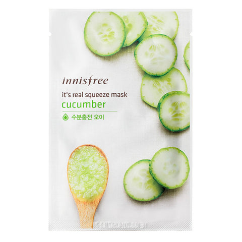 It's Real Squeeze - Cucumber, Innisfree - Mooni Mask