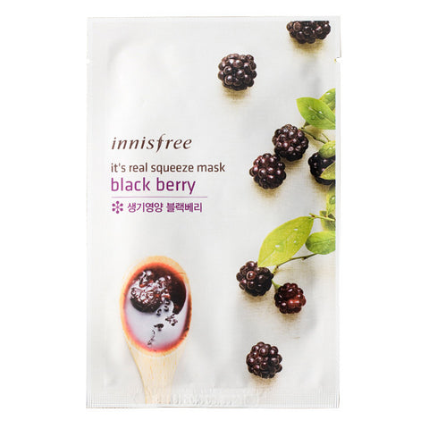 It's Real Squeeze - Black Berry, Innisfree - Mooni Mask