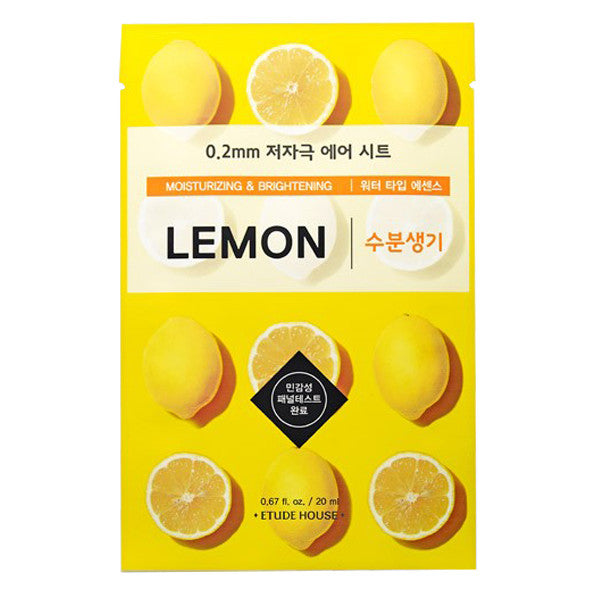 0.2 Air Therapy - Lemon - Moisturizing & Brightening, Etude House - Mooni Mask