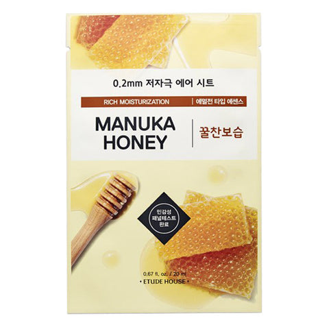 masque tissu moonimask etude house 0.2 air therapy manuka honey miel