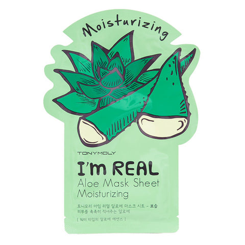 I'm Real - Aloe - Moisturizing, Tony Moly - Mooni Mask