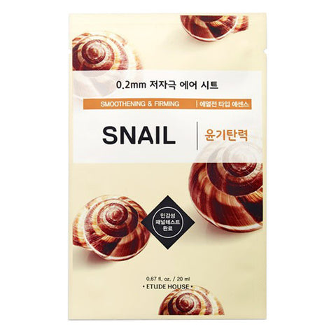 0.2 Air Therapy - Snail - Smoothening & Firming, Etude House - Mooni Mask