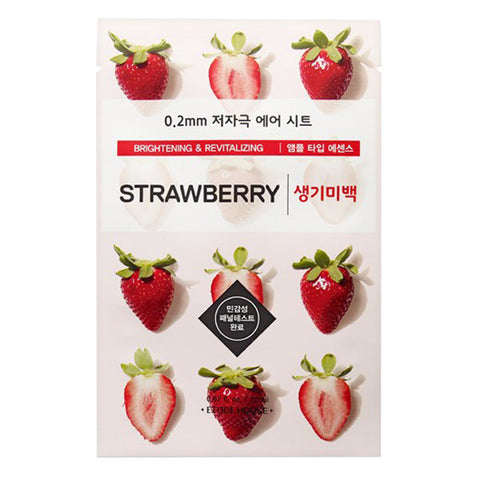 0.2 Air Therapy - Strawberry - Brightening & Revitalizing, Etude House - Mooni Mask