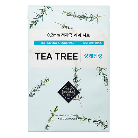 0.2 Air Therapy - Tea Tree - Refreshing & Soothing, Etude House - Mooni Mask