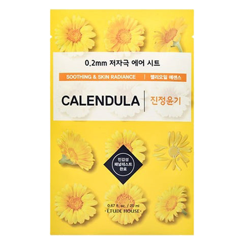 Air Therapy - Calendula - Soothing & Skin Radiance, Etude House - Mooni Mask