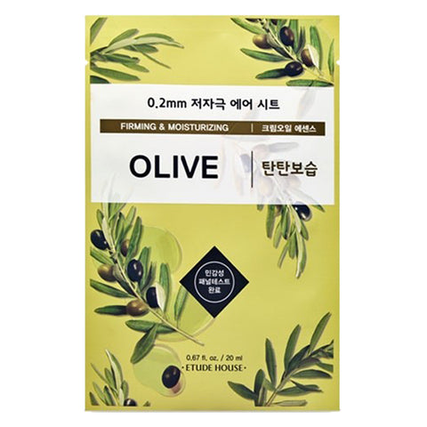 0.2 Air Therapy - Olive - Firming & Moiturizing, Etude House - Mooni Mask
