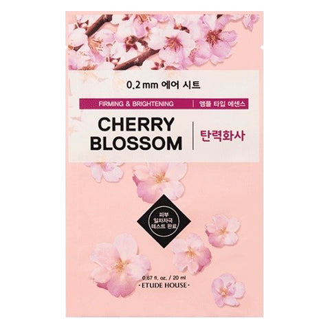 0.2 Air Therapy - Cherry Blossom - Firming & Brightening, Etude House - Mooni Mask