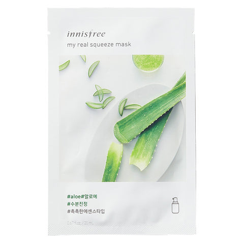 My Real Squeeze - Aloe, Innisfree - Mooni Mask