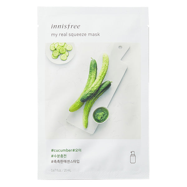 My Real Squeeze - Cucumber, Innisfree - Mooni Mask